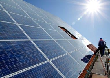 Solarmodule gereinigt