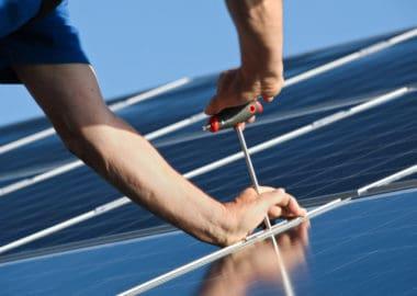 Anbringung von Solarmodulen