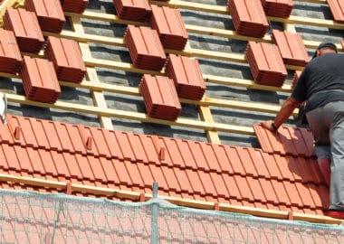 Anfertigung eines neuen Dachs